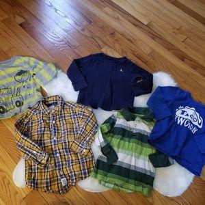 Lot bundle 2T long sleeve shirts boys